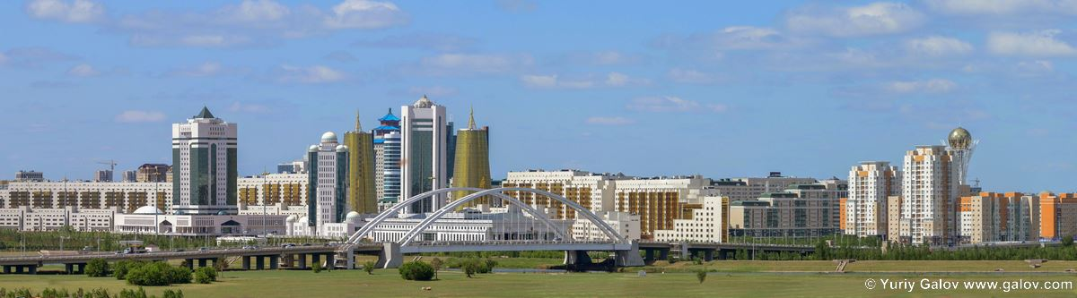 Panorama of the left bank of Astana